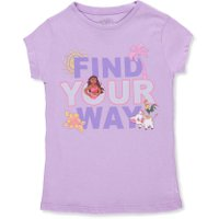 Disney Moana Girls' T-Shirt - lavender, 5-6